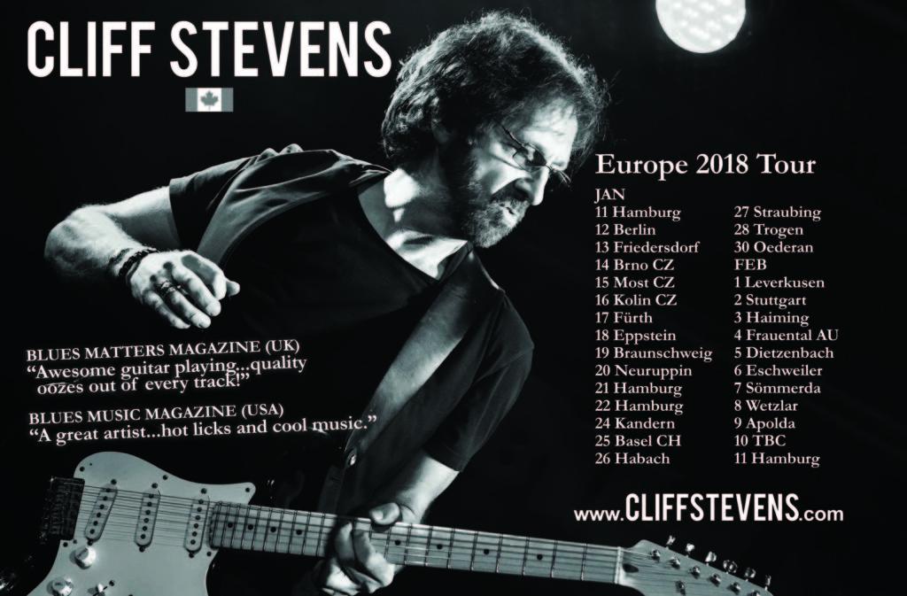 Cliff Stevens Europe Tour 2018